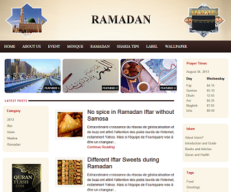 Ramadan - Islamic Blogger Template