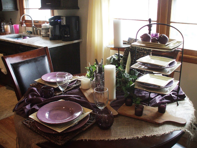 Purple Passion Tablescape