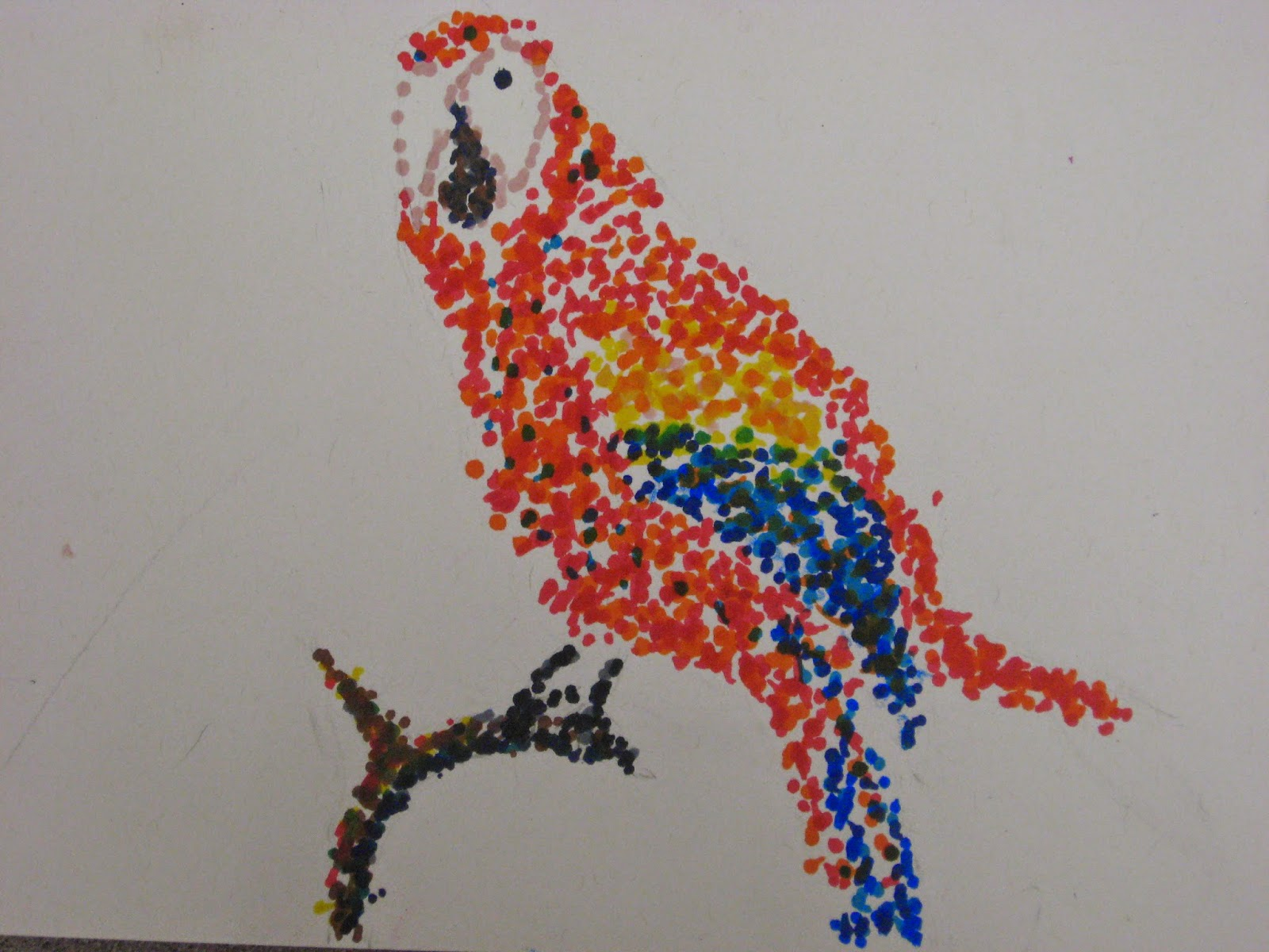 Miss Young S Art Room Pointillism Birds With 5th Grade