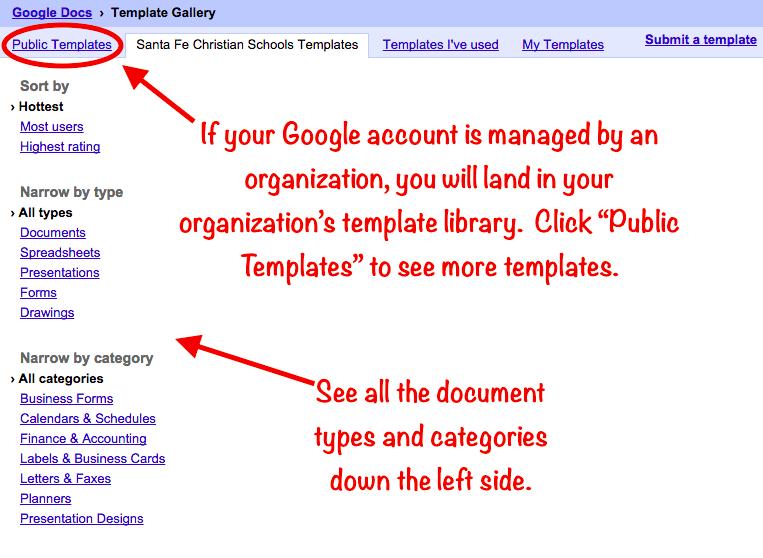 Teachingtechnix Google Drive Template Gallery
