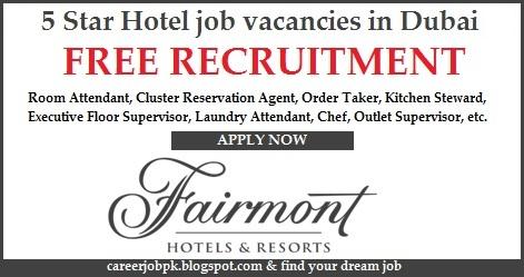 5 Star Hotel job vacancies in Dubai 2016