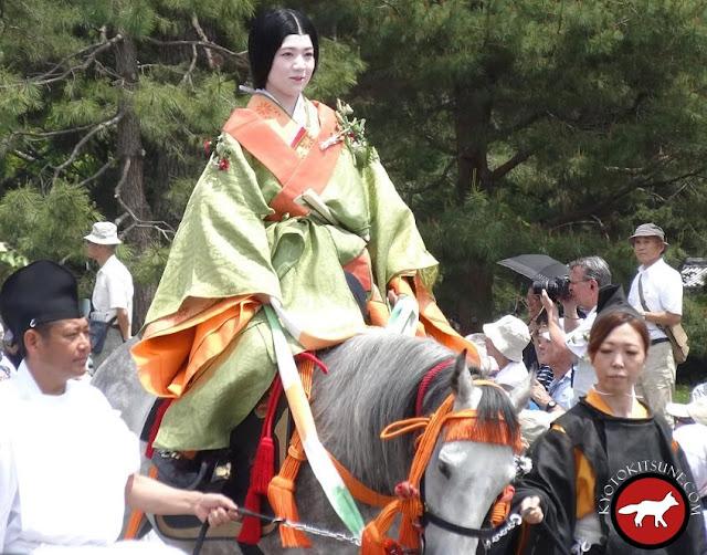 Habit de la période Héian au Aoi matsuri de Kyoto