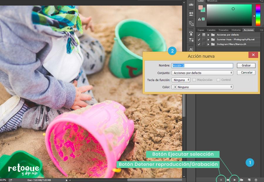 Cómo crear acciones en Photoshop para automatizar trabajo