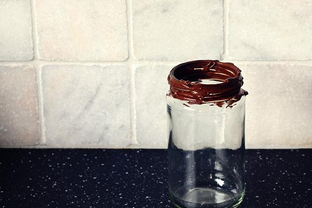glazen pot rand nutella