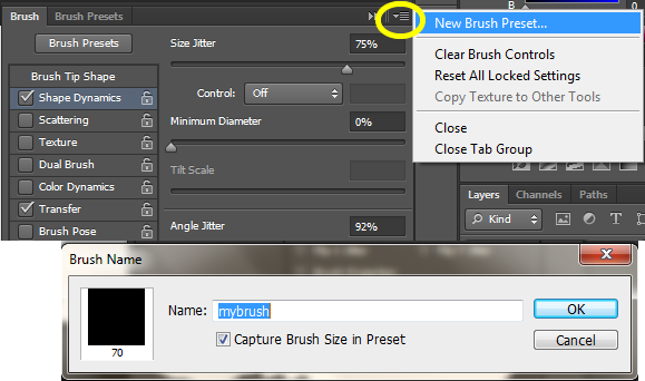 save new brush preset in photoshop