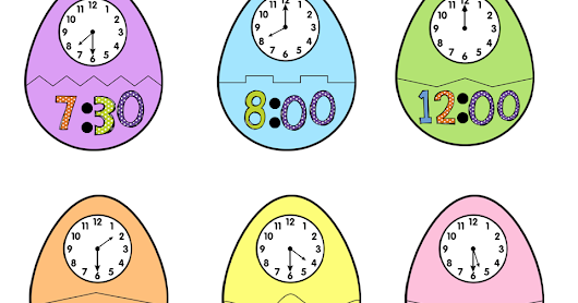 Easter Egg Telling Time puzzles