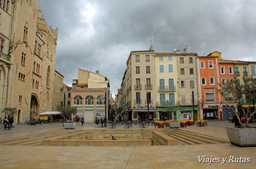 Qué ver en Narbona: Place de l'Hôtel de ville