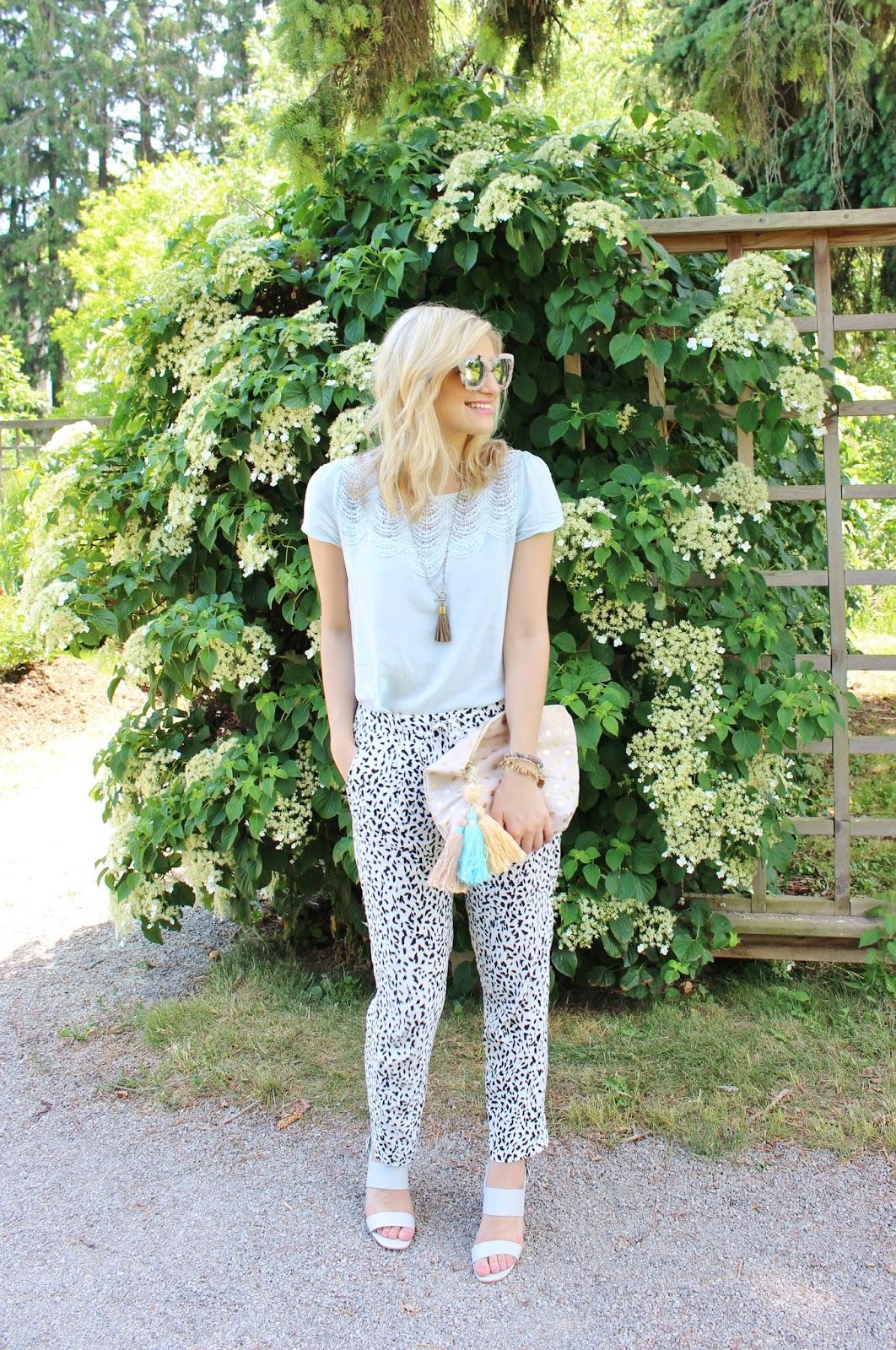 bijuleni - classy feminine look, pants and top