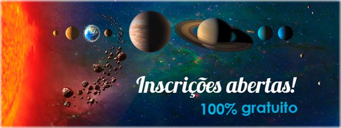 curso de astronomia - inscrições abertas