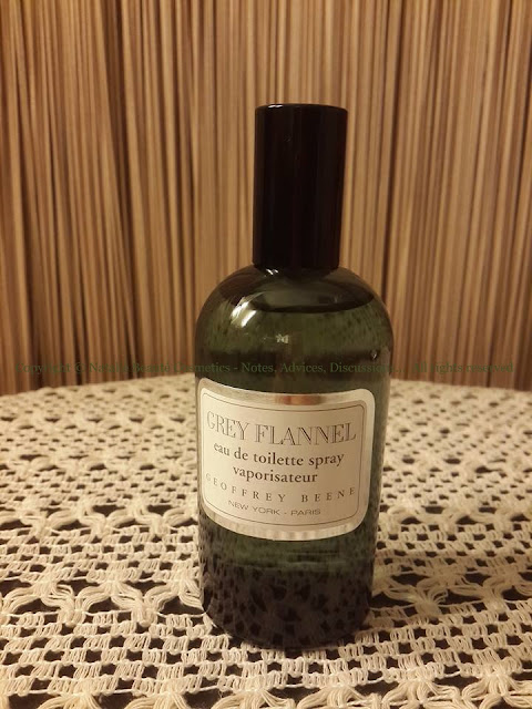 GREY FLANNEL by GEOFFREY BEENE PERSONAL PERFUME REVIEW AND PHOTOS OF NATALIE BEAUTE