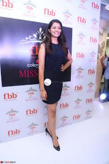Model Shreya Kamavarapu in Short Black Dress at FBB Miss India 2017 finalists 065.JPG