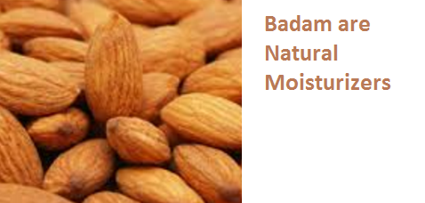 Almonds Health Benefits Badam are Natural Moisturizers
