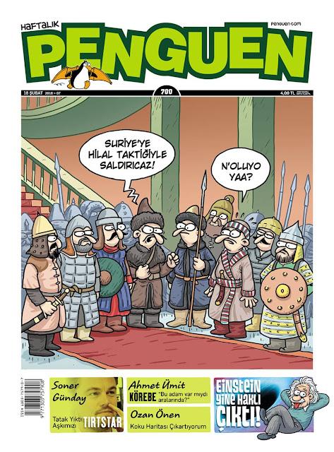 Penguen Dergisi - 18 Şubat 2016 Kapak Karikatürü