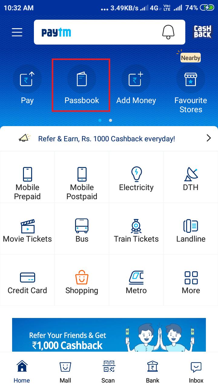 Fake Paytm Wallet