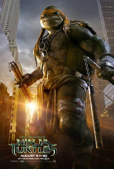 poster Teenage Mutant Ninja Turtles 2014 Full Movie Download Dual Audio Hindi 720p