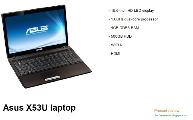 Asus X53U-SX155V laptop specs and review