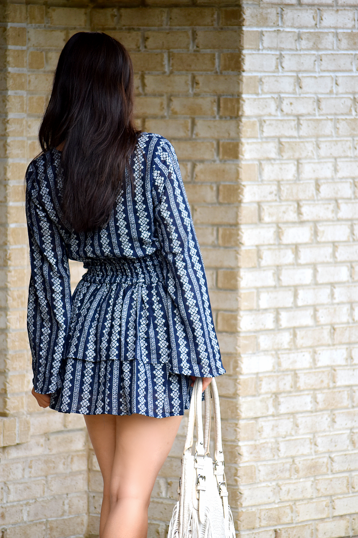 printed Ruffle Minidress