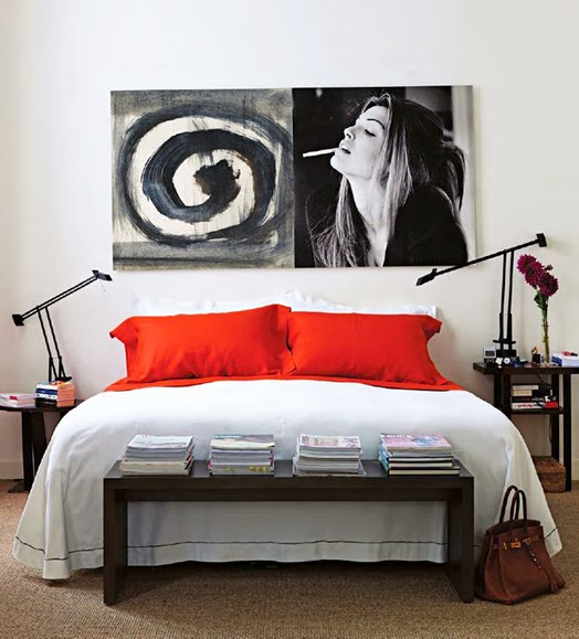 Cush and nooks art above the bed - Over the bed art ...