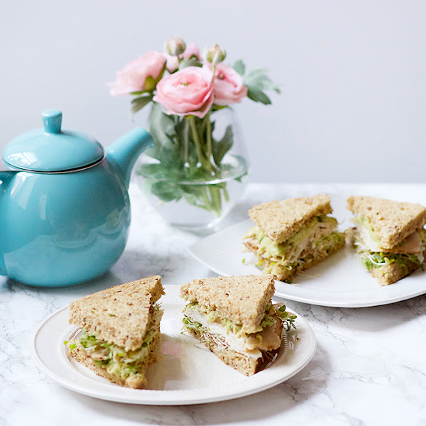 Turkey Sprout Tea Sandwiches
