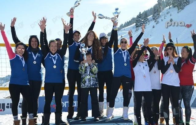 Με μεγάλη επιτυχία το δεύτερο Πανελλήνιο πρωτάθλημα snow volley στο Μαίναλο (βίντεο)