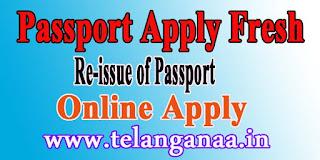 How to Passport Apply for Fresh Passport / re-issue of Passport