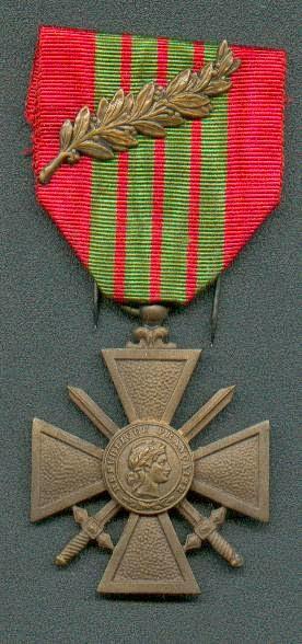 médaille militaire croix de guerre
