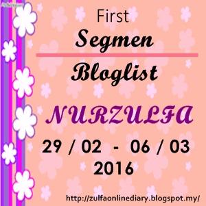 First Segmen Bloglist NURZULFA