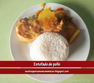 estofado de pollo peruano