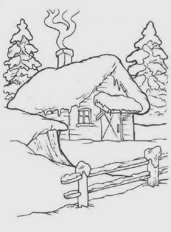 sauvage27 PAESAGGI DI NATALE  Disegni da colorare Landscapes of Christmas  Coloring Pages
