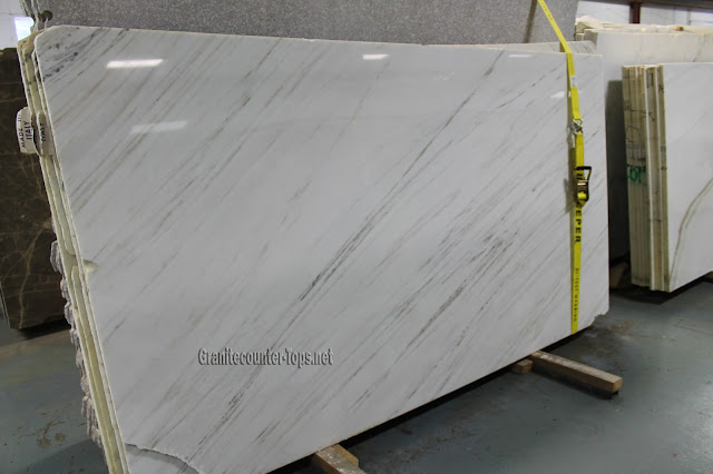 Bianco Oro Vein Cut polishing White Marble Slab