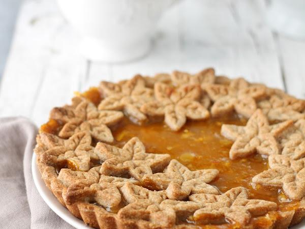 Crostata integrale alla confettura di arance