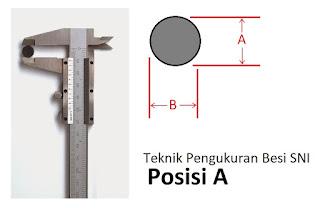 cara mengukur besi beton