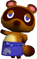 Tom Nook GameCube official art render shopkeep