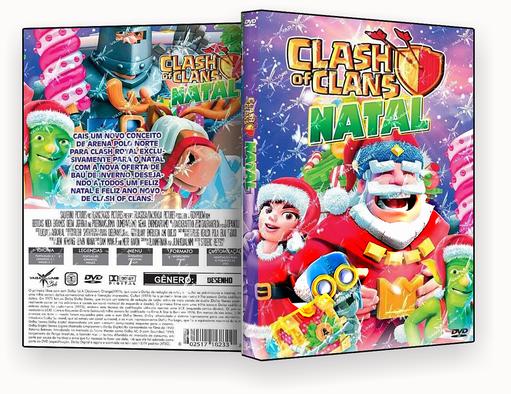 CAPA DVD – Clash of Clans Natal DVD-R 2018
