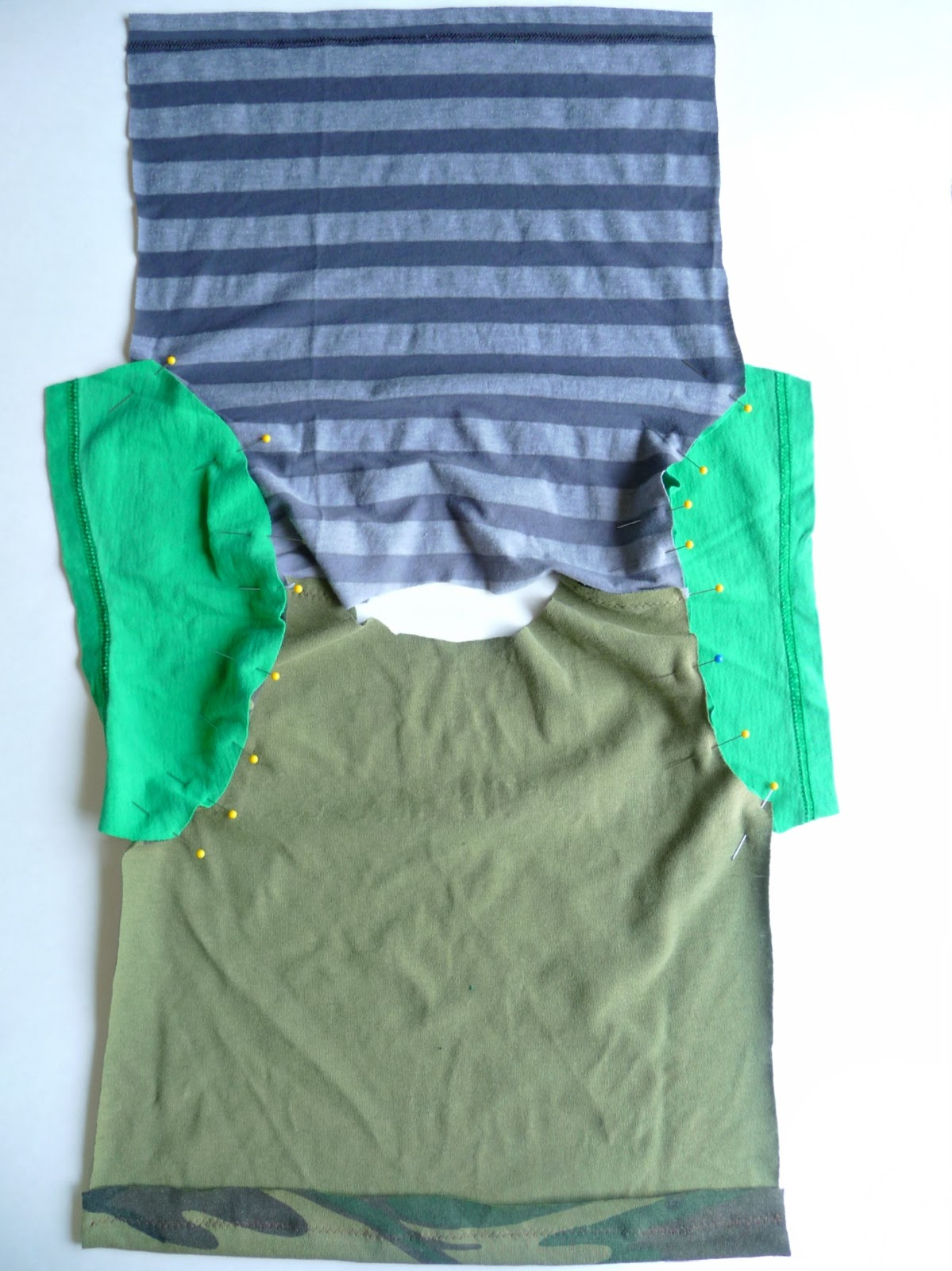 T-shirt pattern making and sewing tutorial refashion