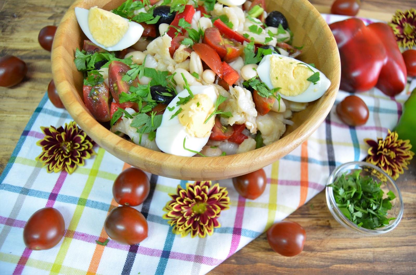 Ensalada de judias blancas con bacalao for Cocinar judias blancas de bote