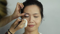 Inner Double Folded Eyelid Makeup - Re-apply the gel eyeliner again with wing out slightly.
