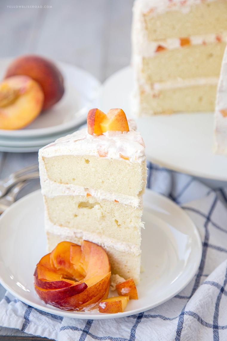Vanilla Peach Layer Cake Recipe