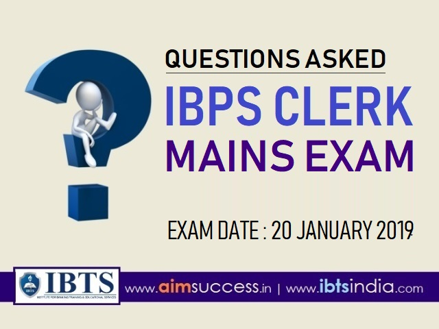 GK Questions Asked in IBPS Clerk Mains Exam 20th Jan 2019