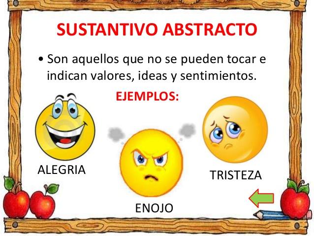 Resultado de imagen de JUEGO SUSTANTIVOS CONCRETOS Y ABSTRACTOS
