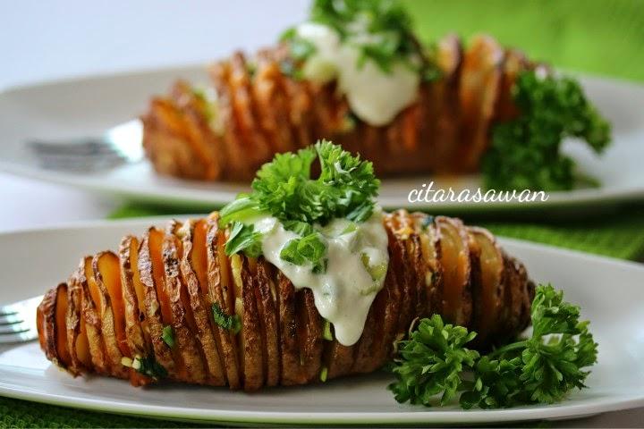 Kentang Spiral Bakar / Spiral Baked Potatoes ~ Resepi Terbaik