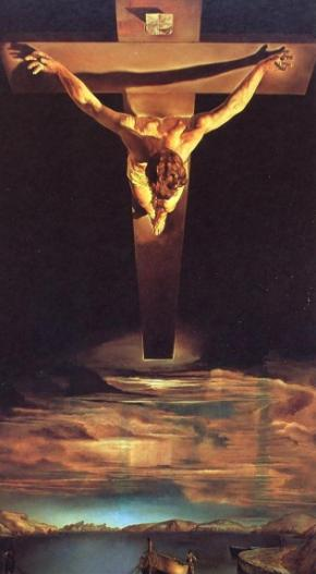 Foto de pintura El Cristo de San Juan de la Cruz de Salvador Dalí
