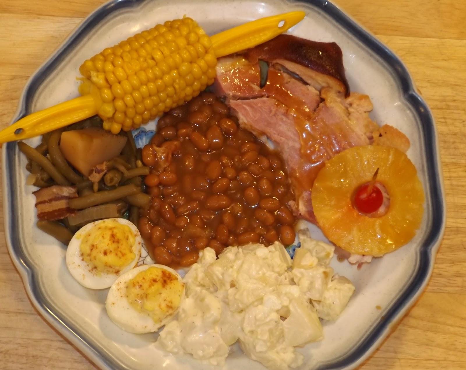My 2 Moms Recipes: Easter - BAKED HAM SHANK, DEVILED EGGS ...