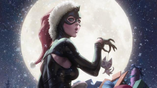 catwoman, luna, natale,