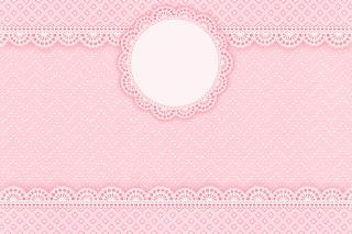 Etiquetas de Encaje Rosa para imprimir gratis.