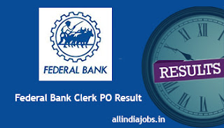 Federal Bank Clerk PO Result