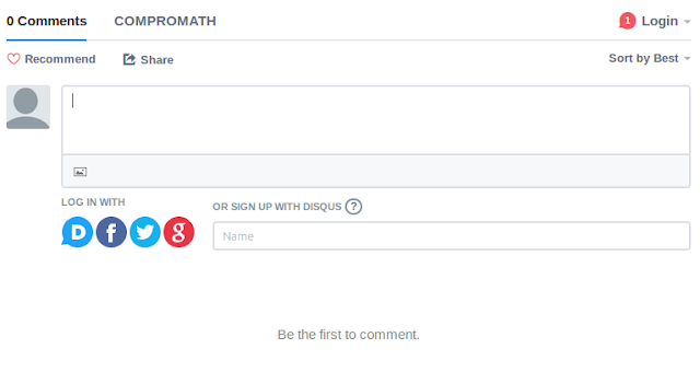 How to log in Disqus