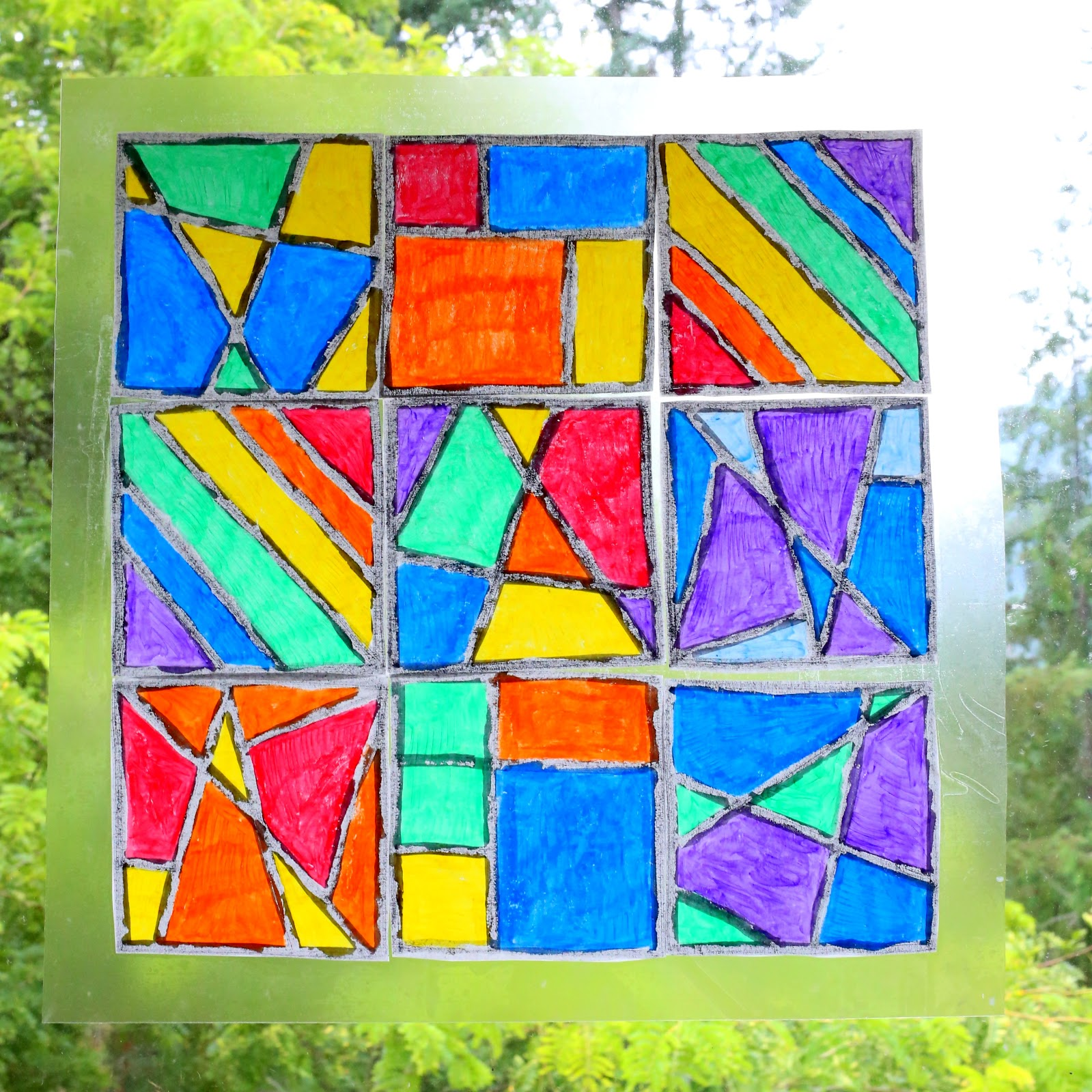 Stained Glass Art with Kwik Stix {FREE printable templates
