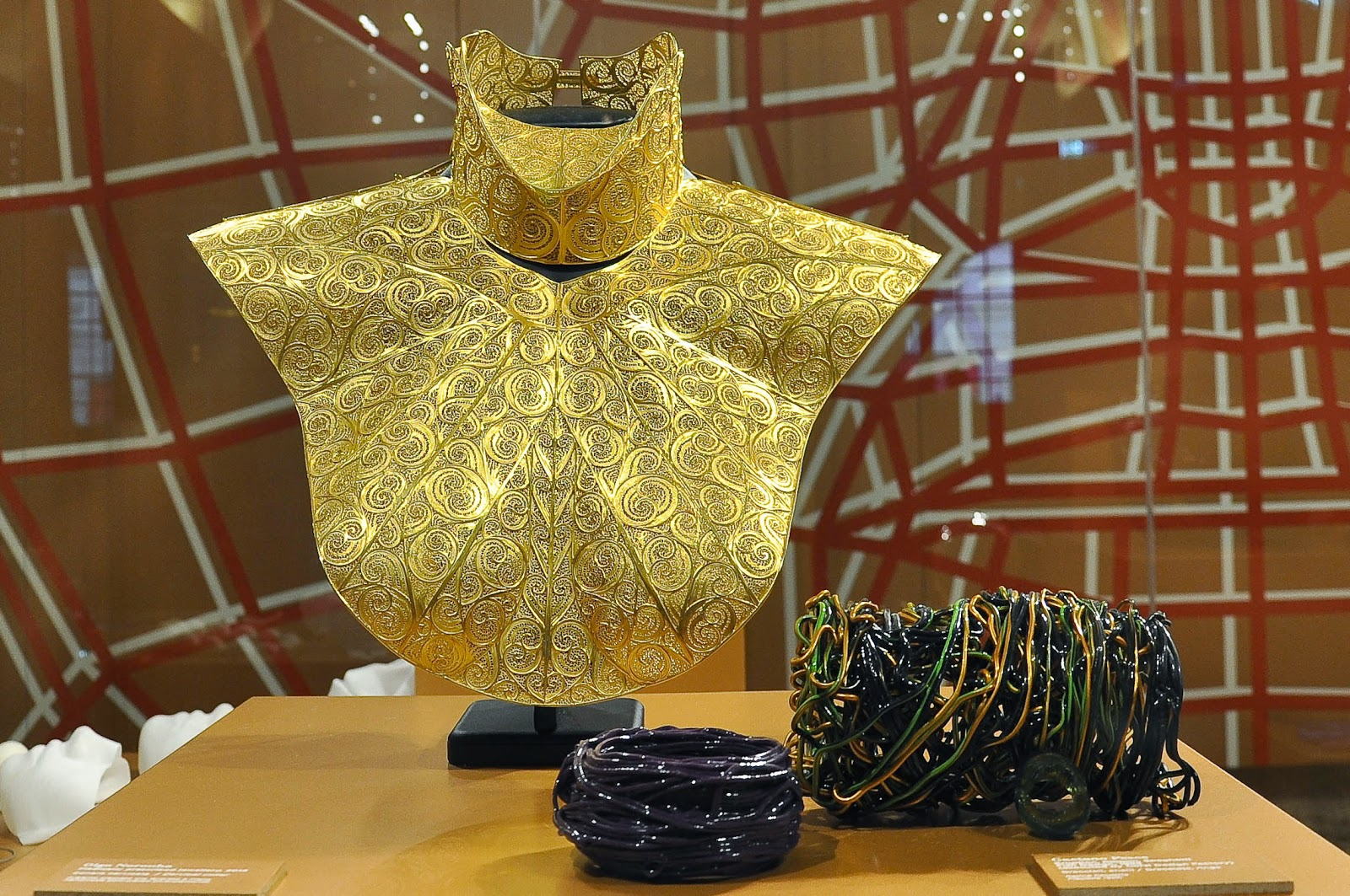 Jewellery pieces in the Future room of the Museum of the Jewellery in Vicenza