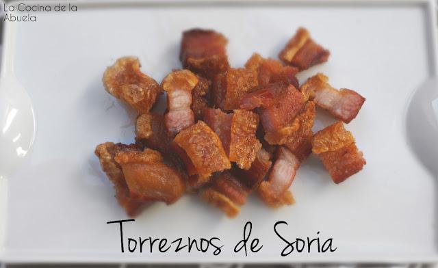 Torreznos Soria ingredientes receta presentación aperitivo